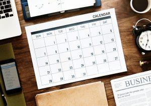 dental check up calendar